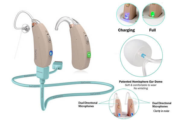 Ear Centric Rechargeable Hearing Aids RV4 hearing aids