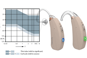 Ear Centric Rechargeable Hearing Aids RV4 hearing aids - Broad range of hearing losses